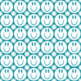 Seamless pattern with smiling faces Stock Photos