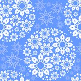 Blue seamless pattern with snowflakes Royalty Free Stock Image