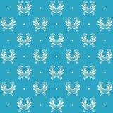 Blue seamless pattern Stock Photography