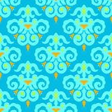 Blue Seamless pattern Vector damask Royalty Free Stock Photos