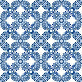 Blue seamless pattern on white background Stock Images