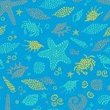 Blue seamless sea background. Stock Photo