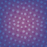 Blue seamless snowflakes pattern Royalty Free Stock Photography