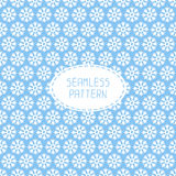 Blue seamless snowflakes pattern. Vector snow. Background. Christmas illustration. Can be used for wallpaper, pattern fills, textile, web page background Stock Photos