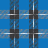 Blue seamless tartan plaid  pattern Stock Photos