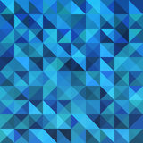 Blue seamless triangle abstract pattern. Stock Photo