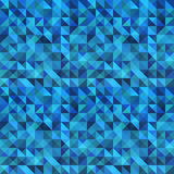 Blue seamless triangle abstract pattern. Royalty Free Stock Image