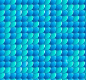 Blue seamless vector fish skin Stock Photo