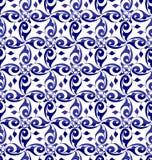 Dark blue seamless azulejos vector tiles vector illustration