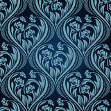 Blue seamless wallpaper Royalty Free Stock Images