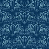Blue seamless wallpaper Stock Images