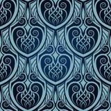 Blue seamless wallpaper. For design Stock Photos