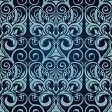 Blue seamless wallpaper Stock Photography