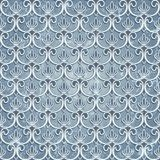 Blue seamless wallpaper Stock Image