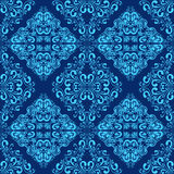 Blue seamless wallpaper. Stock Photo