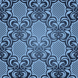 Blue seamless wallpaper Royalty Free Stock Photo