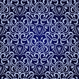 Blue seamless wallpaper Royalty Free Stock Photography