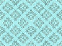 Blue Seamless Wallpaper Pattern Royalty Free Stock Photo