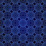 Blue seamless wallpaper pattern. For design Stock Photos
