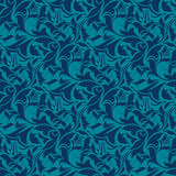 Blue seamless wallpaper pattern Stock Photo