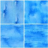 Blue Seamless Watercolor Series Stock Image