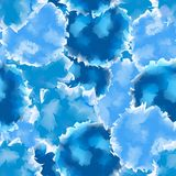 Blue seamless watercolor texture background. Royalty Free Stock Photography