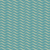 Blue seamless waves abstract pattern Stock Photos