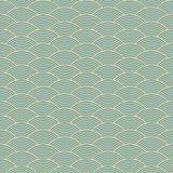 Blue seamless waves abstract pattern Royalty Free Stock Photography