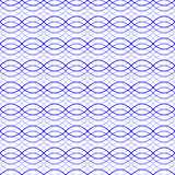 Blue seamless wavy abstract pattern vector illustration. Blue seamless wavy line abstract pattern vector illustration Royalty Free Stock Image