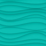 Blue seamless Wavy background texture. Stock Images