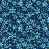Blue seamless winter texture background. Christmas template Stock Photos