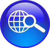 blue search button Stock Photography