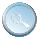 Blue search button Royalty Free Stock Images