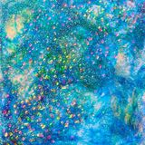 Blue Seascape Glitter Design Royalty Free Stock Images