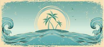 Blue seascape horizon. royalty free illustration