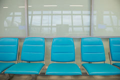 Blue seat in airpor Stock Image