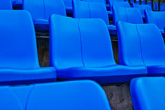 Blue seat   in football stadium Stock Image