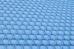 Blue seat in sport stadium Royalty Free Stock Photo