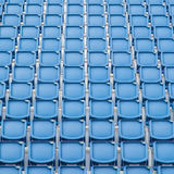 Blue seat in sport stadium Royalty Free Stock Images