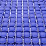 Blue seat in sport stadium Stock Images