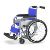 Wheelchair, 3D illustration. Blue seated wheelchair. 3D illustration Stock Photography