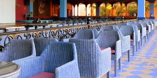 Blue seating Royalty Free Stock Images