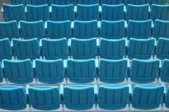 Blue Seats. Rows of blue seats Royalty Free Stock Image