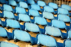 Blue seats Stock Photo