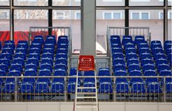 Blue seats Royalty Free Stock Photo