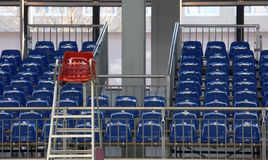 Blue seats Stock Photography