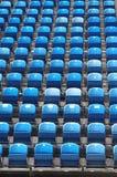 Blue seats Stock Photos