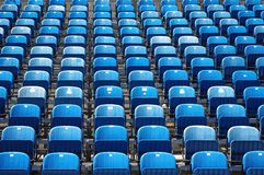 Blue seats Royalty Free Stock Image