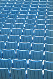 Blue seats Stock Image