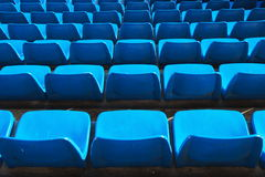 Blue Seats In A Stadium Royalty Free Stock Photo
